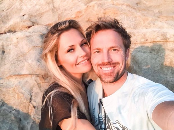 Me and my hubby on the cliffs in Laguna Beach for sunset
