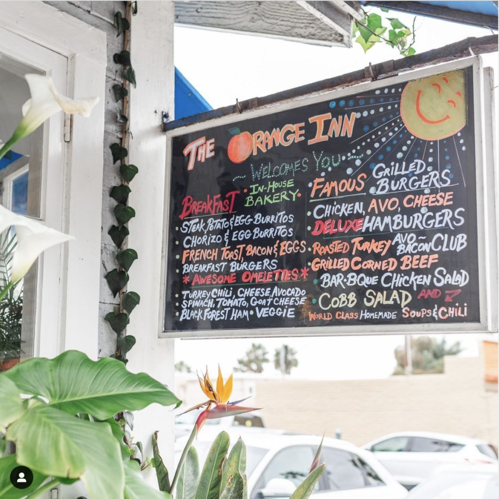 Orange Inn Cafe's menu