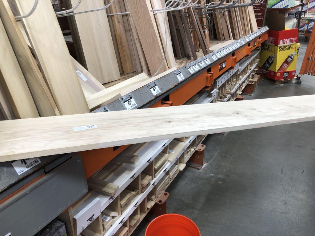 Beautiful Poplar Boards at Home Depot.