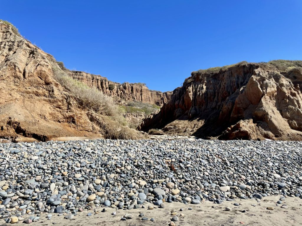 San Onofre Bluffs Campground - Bluff view from beach