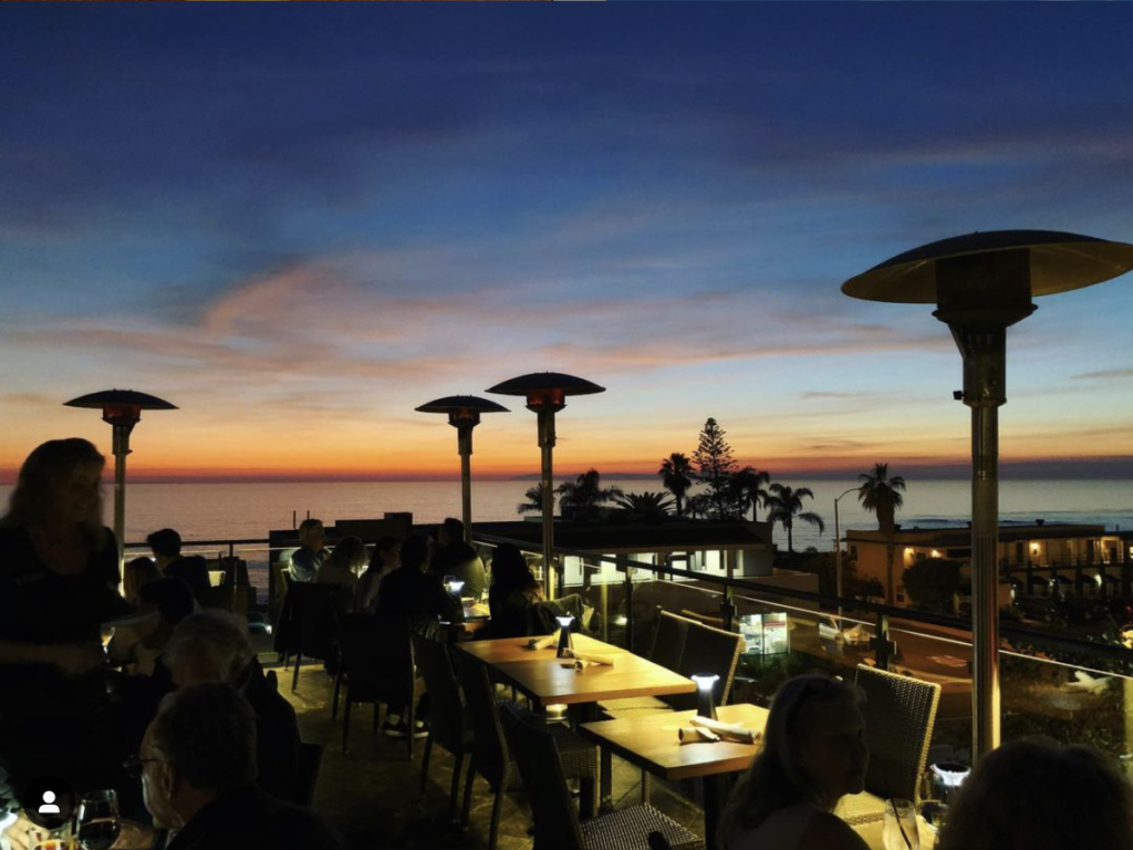 Rooftop view at Mozambique OC in Laguna Beach