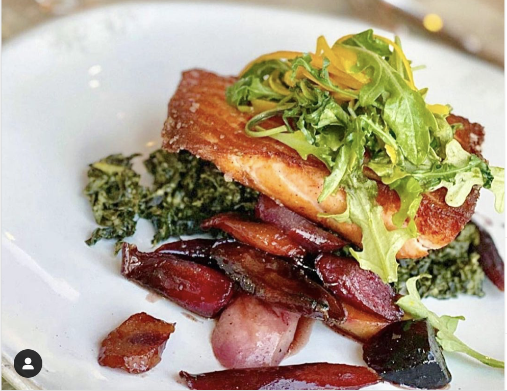 The salmon at Driftwood Kitchen is divine