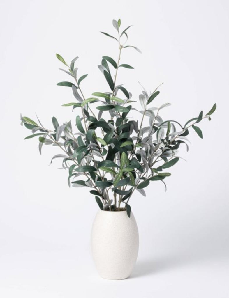 "Studio McGee 30"" x 24"" Artificial Olive Plant Arrangement in Pot"