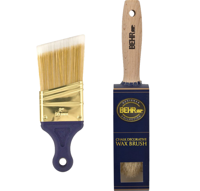 Synthetic brush and Wax buffing brush